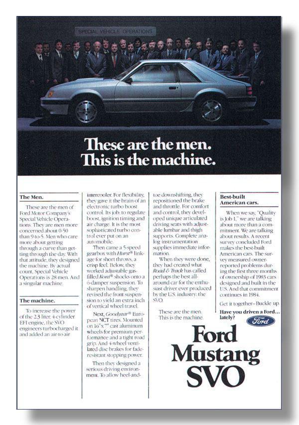 Mustang SVO History Index Page
